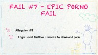 The alleged use of Outlook Express