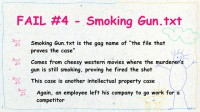 The 'Smoking Gun.txt' fail