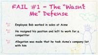 The 'Wasn't Me' Defense case
