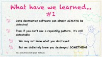 Lessons learned from fail #1