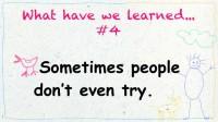 Main lesson learned