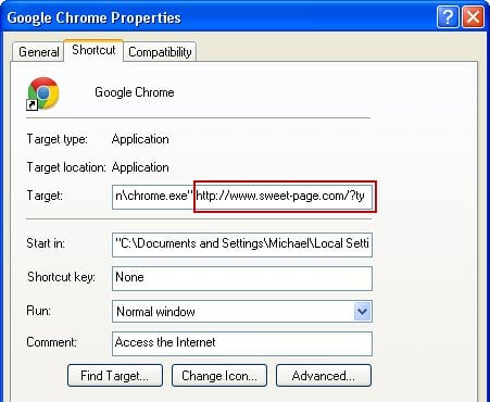 Restore Chrome shortcut settings