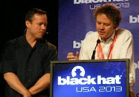 Brian Krebs and Matthew Prince polemicizing at Black Hat