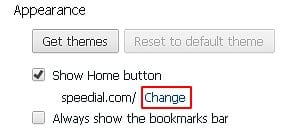 Change Home button in Chrome