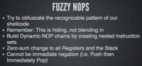 The fuzzy NOPs idea