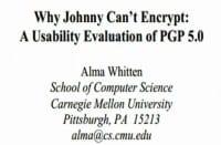 Alma Whitten's PGP study