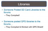 SD card and GPS libraries