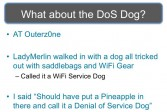 Origin of the Denial of Service Dog