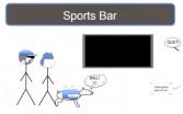 Scenario #2: sports bar