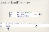 The loadFirmware action