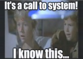 'It's a call to system'