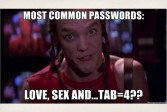 Giving popular passwords a shot
