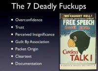 The 7 deadly sins / fuckups