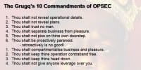 The Grugq's basic OPSEC principles