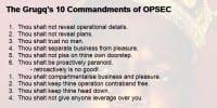 The Grugq's basic OPSEC principles