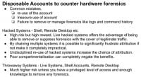 Facts on disposable accounts