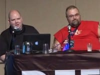 Ryan Lackey and Marc Rogers giving their presentation at DEF CON