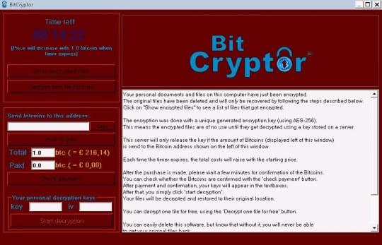 Bit Cryptor GUI