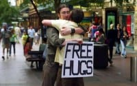 Dave loves giving hugs