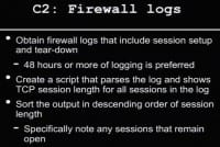 Obtaining firewall logs