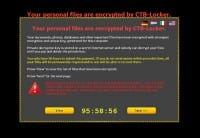 Alert displayed by ransom Trojan