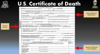 Certificate of Death sections