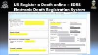 Online death registration in the U.S.