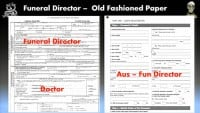 Details filled out by funeral director