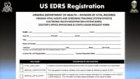 Paper-based form for doctor registration