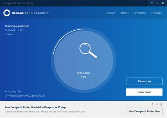 Reason Core Security: Quick Scan