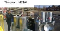 Hopefully metal cans will do the trick