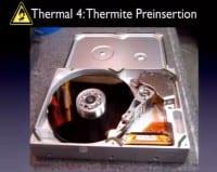 Hiding thermite inside
