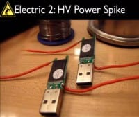 High voltage spike