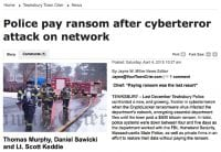 Police hit by ransomware