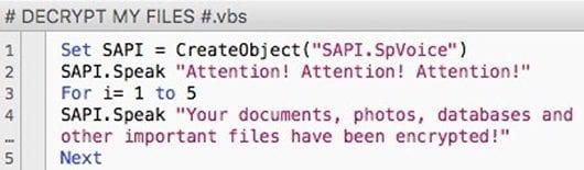 VBScript version of Cerber ransom directions