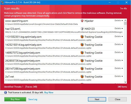 HitmanPro.Alert 3.5 with CryptoGuard: Delete Threats