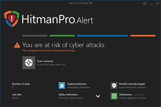 HitmanPro.Alert 3.5 with CryptoGuard: Scan Computer