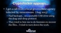 Emergence of CryptoLocker