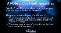 The intelligence 'sufficiency' issue
