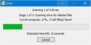 Recuva file scan progress