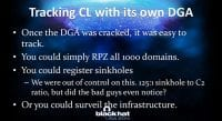 Cracked DGA can be verbose