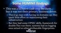 Human intelligence findings