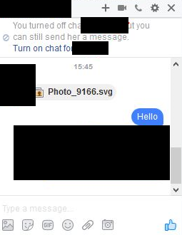 Facebook spam with malicious SVG file