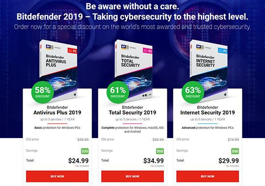 Bitdefender 2019 Black Friday discounts