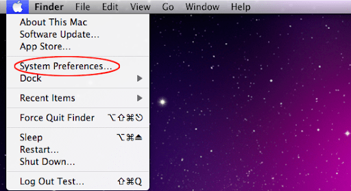 Proceed to System Preferences from your Mac's Finder