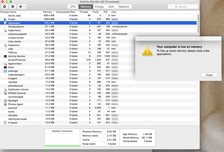 Search Marquis attack may be accompanied by fake low memory alerts